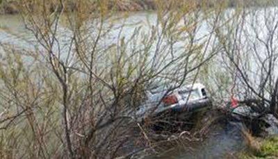 افتادن خودرو داخل رودخانه در بجنورد واژگونی خودرو, رودخانه, خودرو