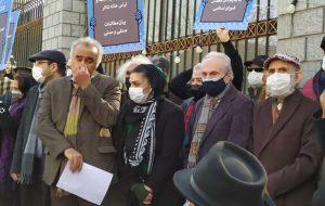 تئاتریها مقابل مجلس تجمع کردند فرهنگی و هنری
