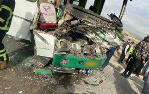 تصادف مینی بوس در جاده چناران ۱۰ مصدوم داشت حوادث