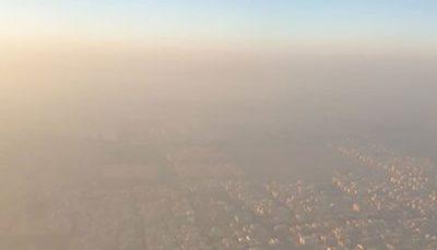 تصویری ترسناک از آلودگی هوای تهران آلودگی هوای تهران