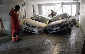 تویویا و پرشیا در زمین پارکینگ فرو رفتند حوادث