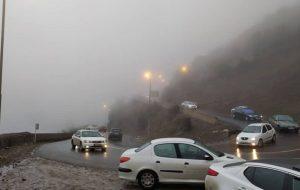 جاده چالوس مسدود شد افزایش ۱.۹ درصدی تردد در جادههای کشور روی خط خبر