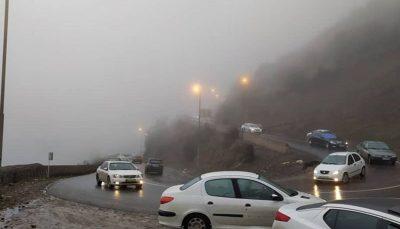 جاده چالوس مسدود شد/ افزایش ۱.۹ درصدی تردد در جادههای کشور