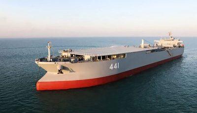 رونمایی از بزرگترین شناور نظامی ایران بزرگترین شناور نظامی ایران
