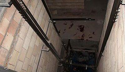 در چاله آسانسور آپارتمانی در پاسداران