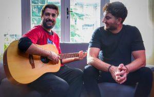 فرزاد فرزین و احمد مهرانفر در یک فیلم فرهنگی و هنری