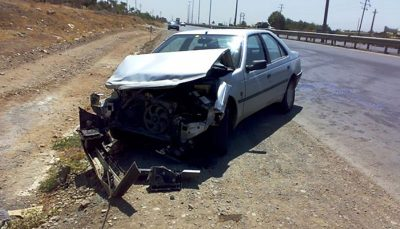 مرگ پدر و مادر خانواده در واژگونی خودرو