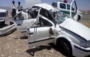 مرگ 3 عضو خانواده در تصادف کرمانشاه حوادث