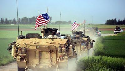 ورود دهها کامیون حامل تسلیحات ارتش آمریکا به حومه دیرالزور