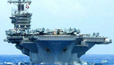 پنتاگون دستور بازگشت ناو هواپیمابر خود را از خاورمیانه صادر کرد ناو هواپیمابر, خاورمیانه, پنتاگون