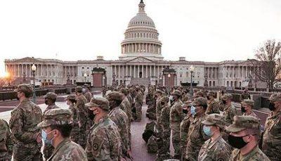 کرونا به جان ۲۰۰ نظامی حافظ امنیت مراسم تحلیف افتاد کرونا, مراسم تحلیف, نیروهای گارد ملی