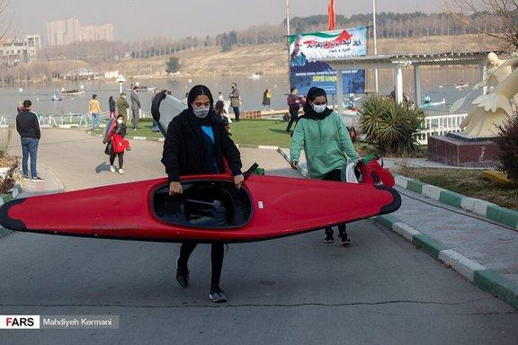 مسابقات روئینگ زنان در استادیوم آزادی/ عکس