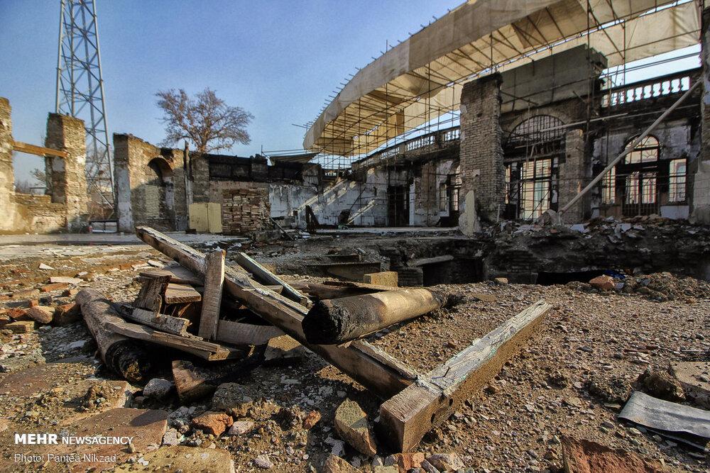 3641102 میدان تاریخی حسن آباد, آتش سوزی