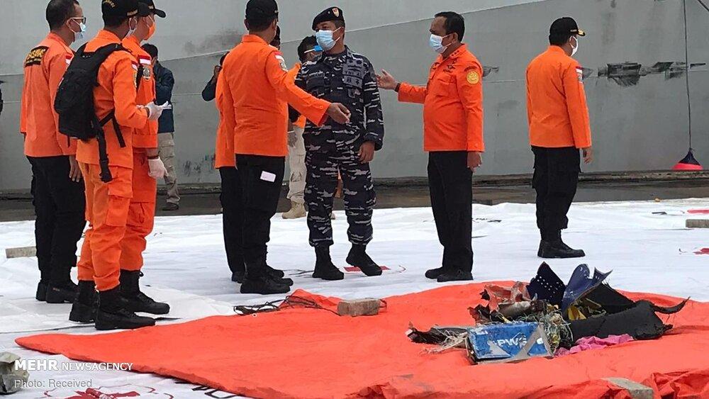 3657157 هواپیمای مسافربری اندونزی, اجساد سرنشینان هواپیما