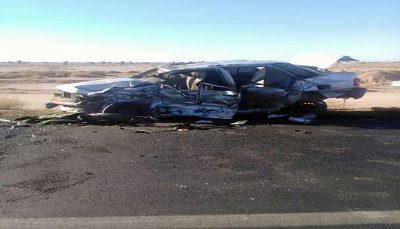 5 کشته در تصادف جاده نیکشهر به چابهار نیکشهر به چابهار, تصادف