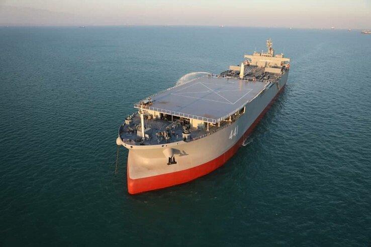 5518206 بزرگترین شناور نظامی ایران