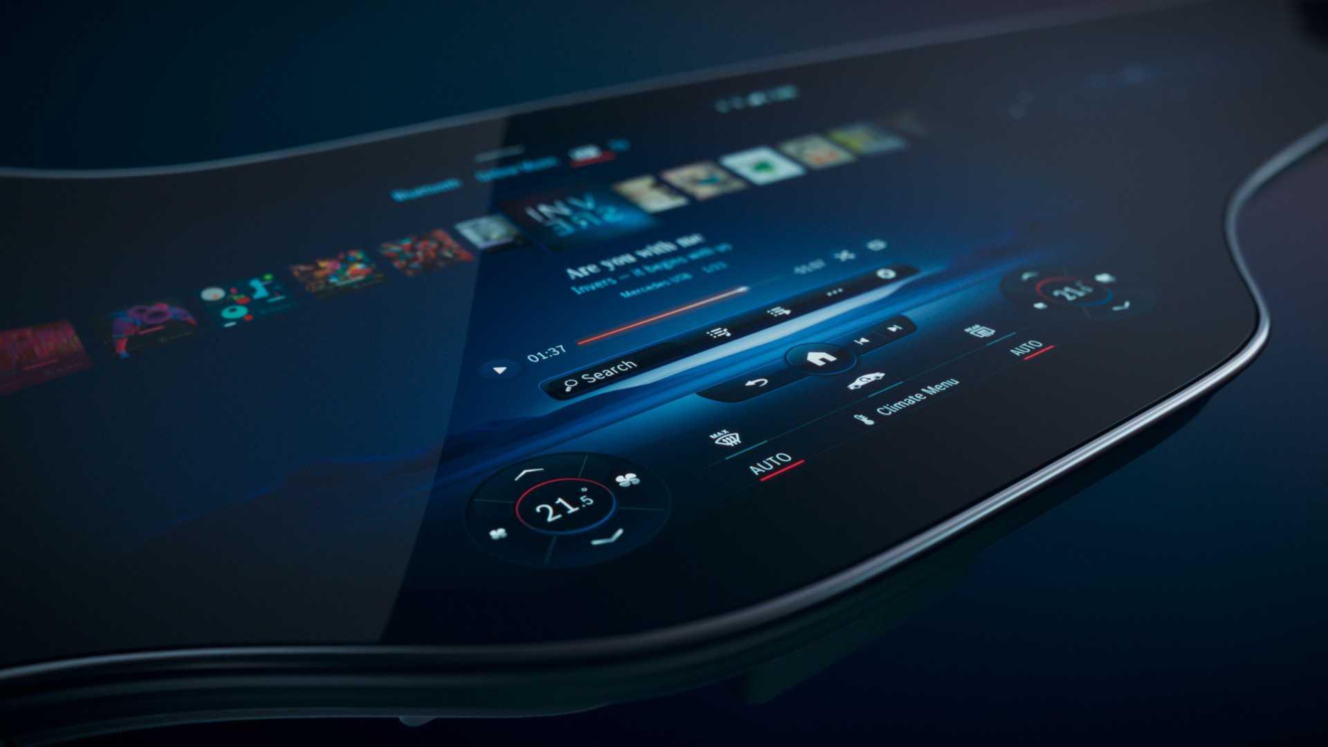 هایپراسکرین MBUX برای خودروی الکتریکی مرسدس بنز EQS رونمایی شد