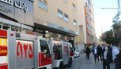 آتشسوزی ساختمان سرپرستی بانک ملت اصفهان ۳ مصدوم داشت