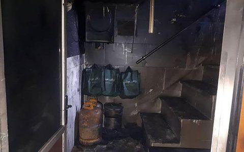 آتش سوزی در حسینیه