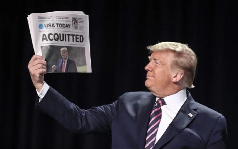 استیضاح ترامپ رأی نیاورد/ ترامپ: در ماههای آینده مسائل زیادی را با مردم در میان خواهم گذاشت