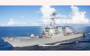 تنشزایی آمریکا با اعزام کشتی جنگی نزدیک جزایر چین