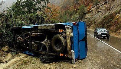 حوادث رانندگی در جاده زنجان جان ۳ نفر را گرفت