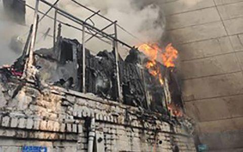 مرگ یک زن در شیراز در آتش سوزی انبار پوشاک