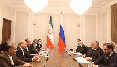 نشست رئیسان مجالس ایران و روسیه در مسکو