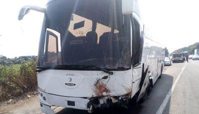 نکشیدن ترمز دستی اتوبوس حادثه آفرید / راننده بی احتیاط جان باخت