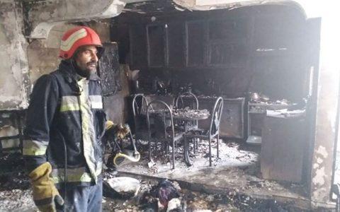 وقوع حریق گسترده مجتمع مسکونی در شهر سمنان