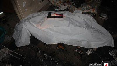 کشف جسد مرد میانسال در آتشسوزی ساختمان ۴ طبقه در تهران / تصاویر