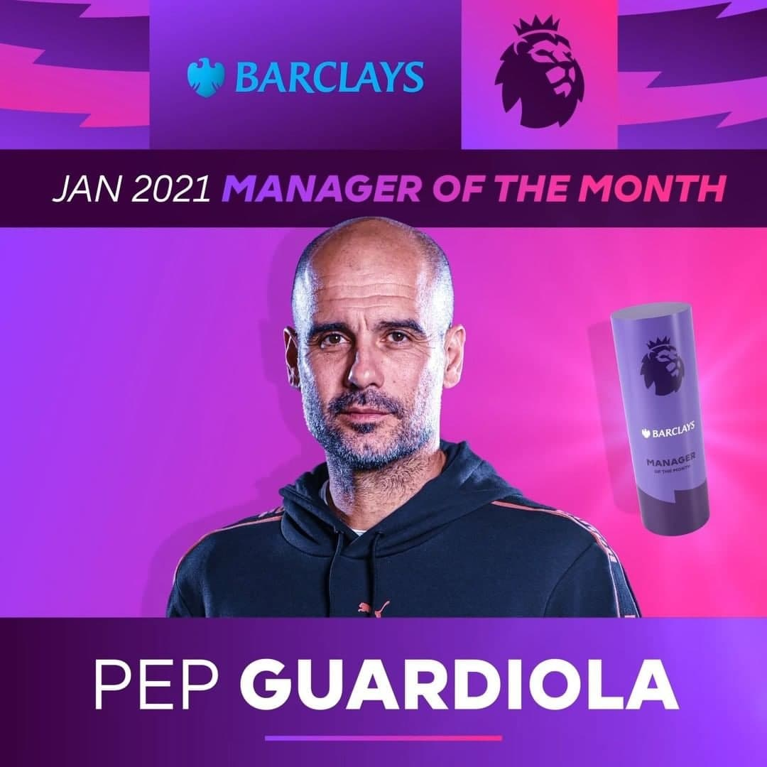 بهترین بازیکن و سرمربی ماه لیگ برتر انگلیس از منچسترسیتی/ عکس