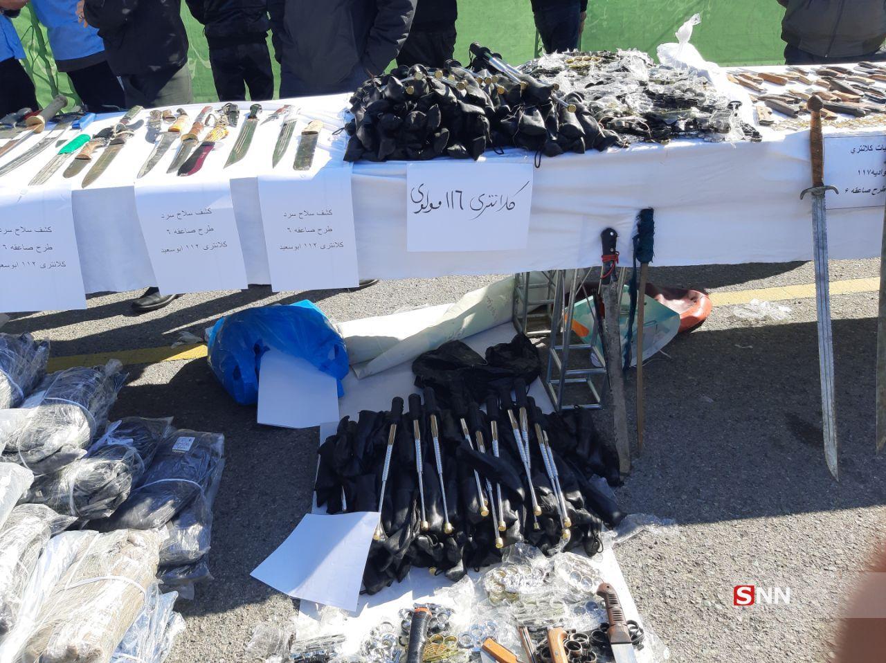 شناسایی و پلمپ کارگاه تولید سلاح سرد در جنوب تهران/ تصاویر