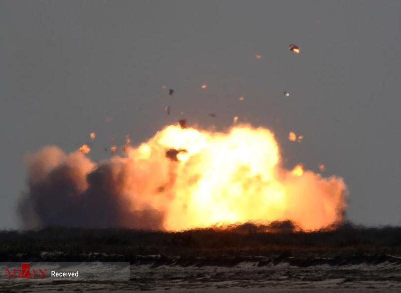 انفجار دوباره موشک استارشیپ