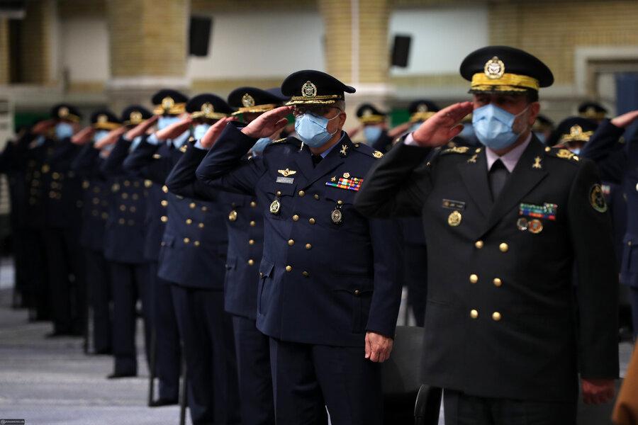 دیدار فرماندهان و کارکنان نیروی هوایی ارتش با فرمانده کل قوا/ تصاویر