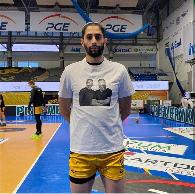ادای احترام به میناوند و انصاریان در لیگ والیبال اروپا