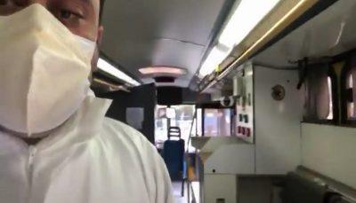 واقعیت جابجایی بیماران کرونایی با اتوبوس در اهواز/ فیلم
