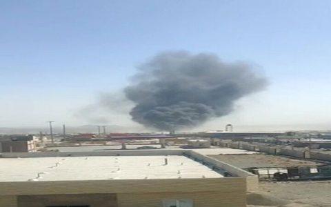 سوزی در گمرک مرزی افغانستان با ایران آتش سوزی در گمرک مرزی افغانستان با ایران