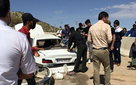 تصادف مرگبار در منطقه گردشگری سرنجکل یاسوج