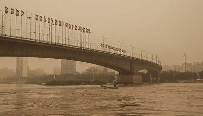 توده گرد و خاک از عربستان در مسیر خوزستان است