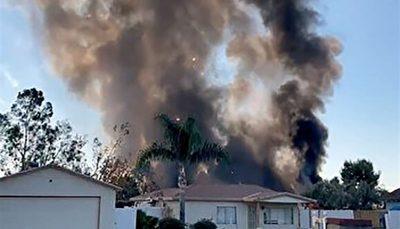لحظه انفجار وسایل آتشبازی در کالیفرنیا/ فیلم
