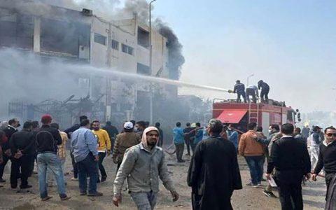 مرگ ۲۰ کارگر و زخمی شدن ۲۴ کارگر در آتشسوزی یک کارخانه در مصر