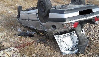 واژگونی خودرو در جاده اصفهان به نایین ۶ مصدوم داشت