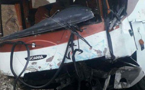 یک کشته و ۶ مصدوم در تصادف اتوبوس با وانت نیسان در جاده اردبیل - سرچم