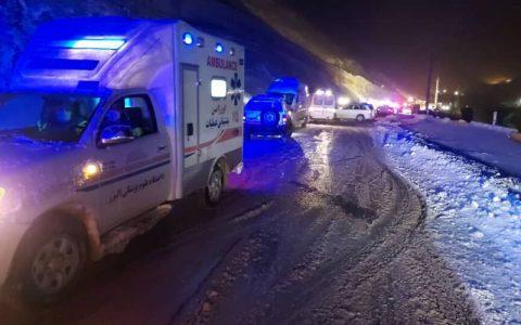 ۱۹ مصدوم حادثه اتوبوس البرز به بیمارستان انتقال یافتند