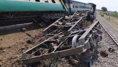 ۴۱ کشته و زخمی در حادثه خروج قطار از ریل در پاکستان