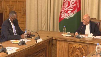 1330976 907 وضعیت افغانستان موضوع گفتگوی وزیر دفاع آمریکا و اشرف غنی