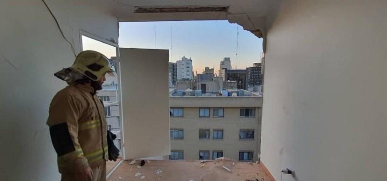 انفجار در خیابان سپهبد قرنی تهران/ عکس