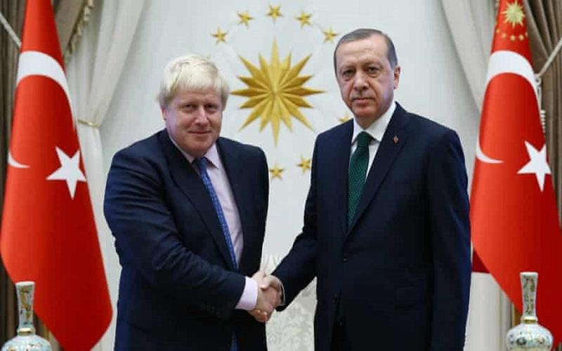 3480 گفتگوی تلفنی رئیس جمهور ترکیه و نخست وزیر انگلیس