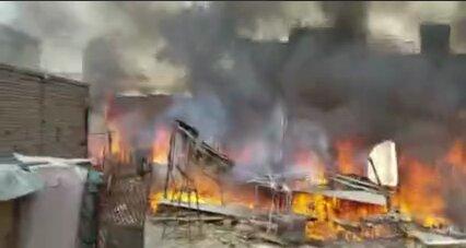 آتشسوزی گسترده در کابل